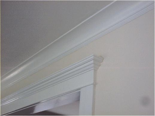 luxuriously thick crown molding and trim