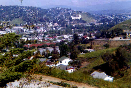 View from 921 Montecito Drive, circa 1955